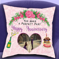 Anniversary Design Photo Cushion