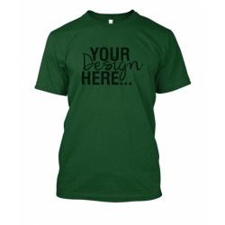 Dark Green Round Neck T-Shirt