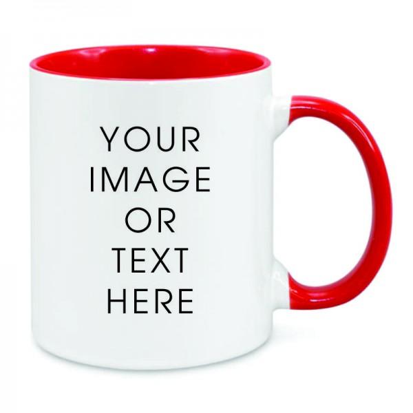 Red Dual Tone Mug