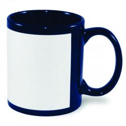 Customized Navy Blue Patch Mug