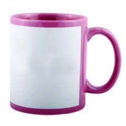 Customized Pink Patch Mug